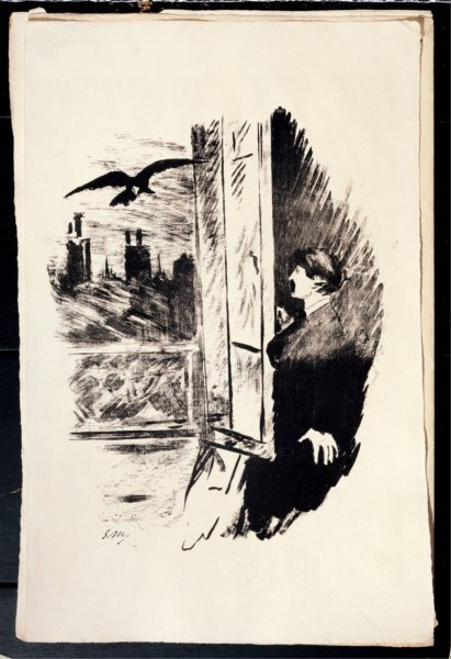 etching for edgar allan poes the raven by c3a9douard manet 1875 d2fa3