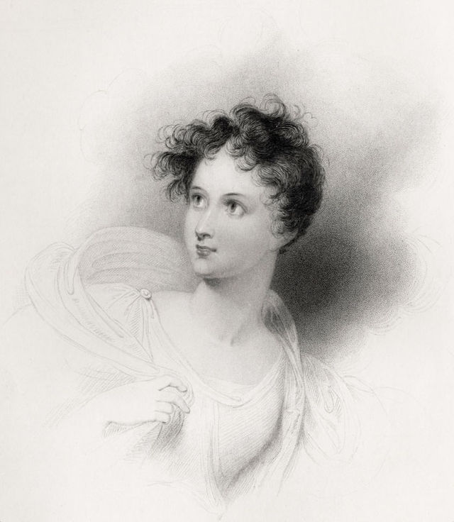 lady charlotte mary bacon nc3a9e harley as ianthe by r westall 1833 00549