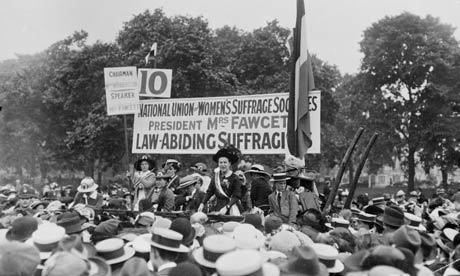 millicent fawcett giving a speech d18a6