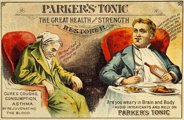 parkers tonic advertisement 1850 wellcome library cc 4 0 768x502 0684f