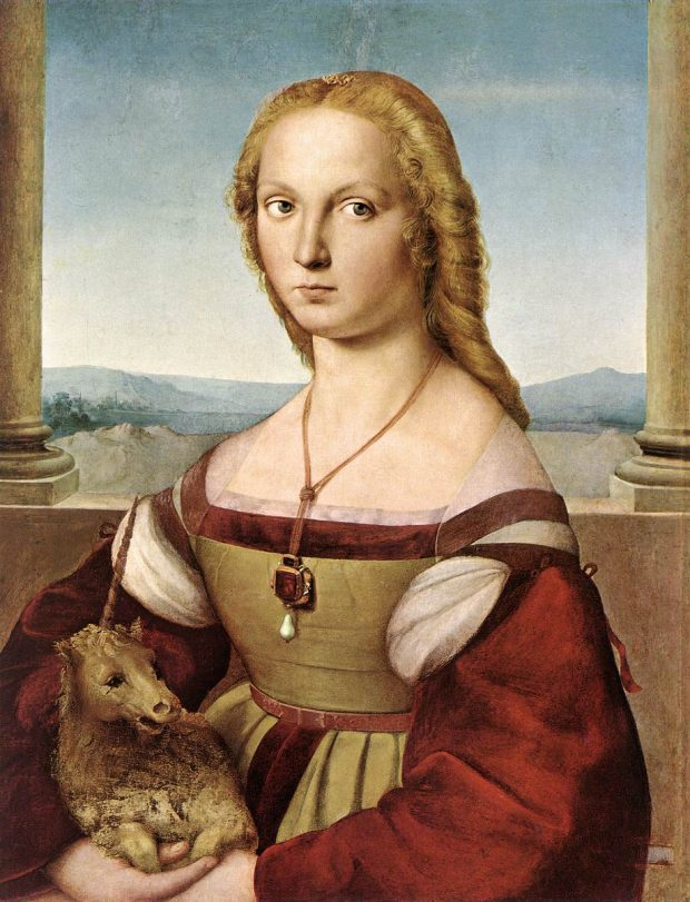 portrait of a young lady with a unicorn by raphael e1523284139275 c03a8