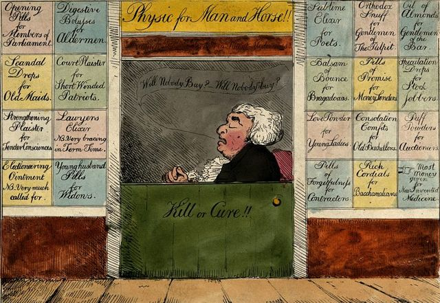 quack doctor open for business coloured etching by g m woodward 1802 768x529 0c958