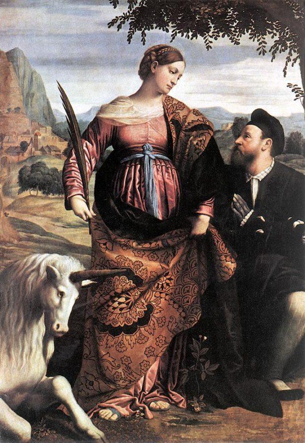 st justina with the unicorn by moretto da brescia 1530 e1523284186376 65462