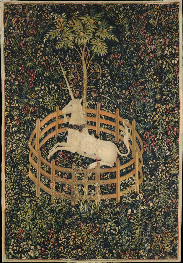 the unicorn in captivity one of the series of seven tapestries the hunt of the unicorn 1495 1505 e1523284339161 1cc75