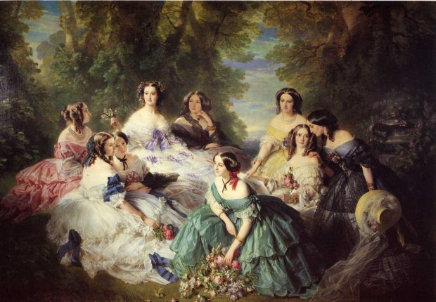 the empress eugc3a9nie surrounded by her ladies in waiting by franz xaver winterhalter 1855 e1528666241655 ae6a0