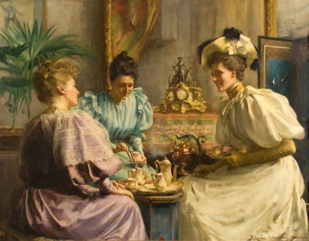 5 OClock Tea by David Comba Adamson 1859 1926 via Dundee Art Gallery and Museum e1531720084862 8c062