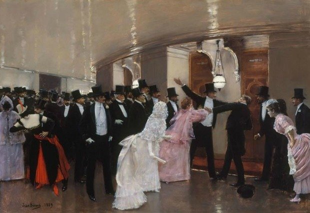 An Argument in the Corridors of the Opera by Jean Georges Beraud 1889 fbe36