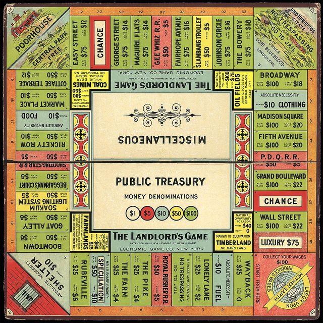 Landlords Game 1906 image courtesy of T Forsyth owner of the registered trademark 20151119 ebc71