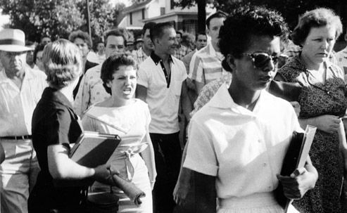 hazel bryan follows elizabeth eckford into little rock central high 1957 b8eb3