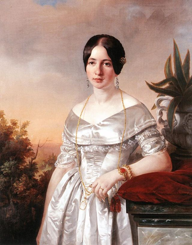 lady with a lorgnette by jozsef borsos 1856 c29e5