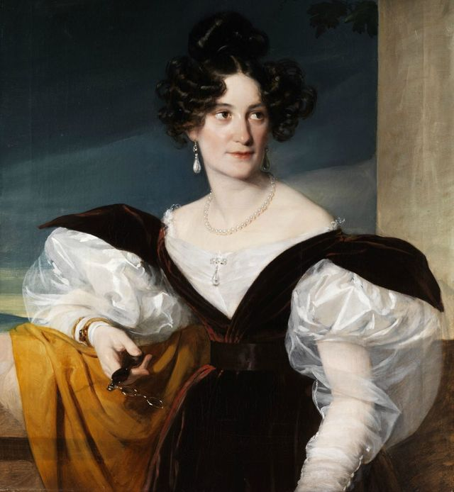 lady with lorgnette by unknown artist 1830s 945x1024 94902