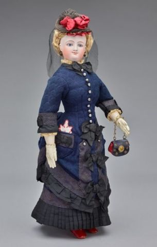 Miss G. Townsend Fashion Doll 1870s France. Gift of Edward Starr Jr. 1976 58 9. e1538954309162 95ad4