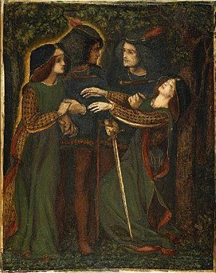dante rossetti how they met themselves 1864 54e62