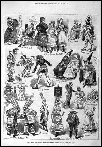 brookwood lunatic asylum fancy dress ball illustrated london news 1842 via wellcome images ee24f