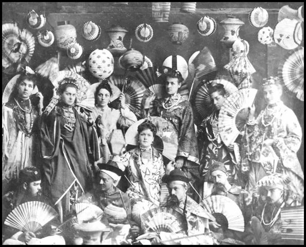 photo of a fancy dress party in cobourg ontario has a theme of 19th century japanese and chinese wear 18861 7d443