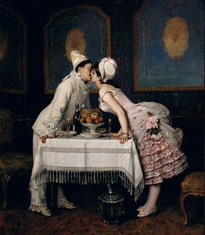 the kiss by auguste toulmouche 18701 6647e