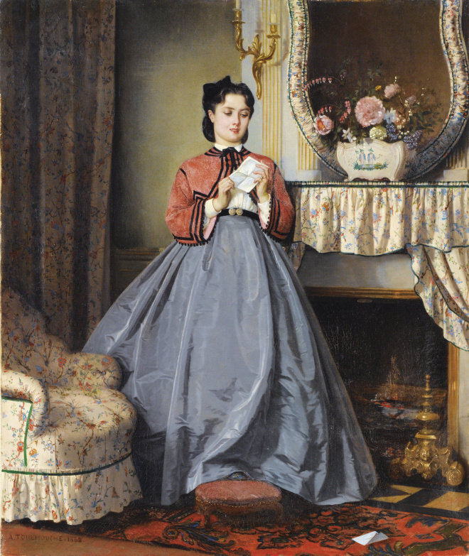 the love letter by auguste toulmouche 1863 913b2