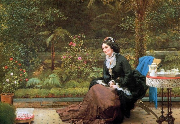 5 oclock Tea by George Dunlop Leslie circa 1874 e1549398768566 040bb