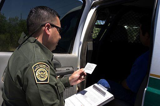 CBP Border Patrol agent reads the Miranda rights b13dc
