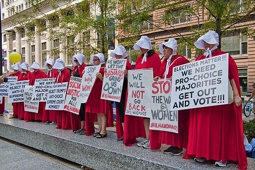 Illinois Handmaids Stop Brett Kavanaugh Rally Downtown Chicago Illinois 8 26 18 3437 42505508810 94061