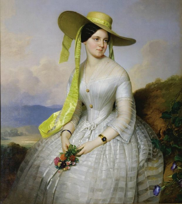 Portrait of a Lady with Hat by Anton Einsle 1801 1871 e1560715280231 b5438