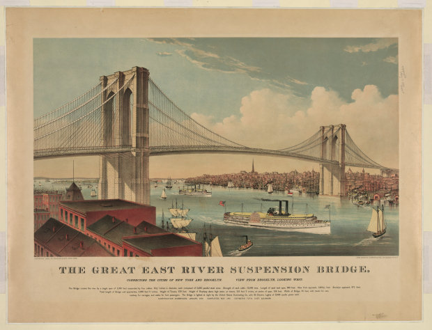 brooklyn bridge by currier and ives 1883 a7567