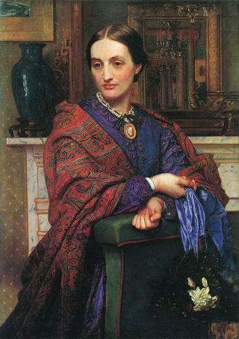 portrait of fanny holman hunt by william holman hunt 1866 1867 724x1024 a615c