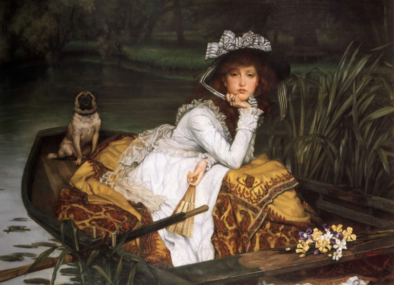 pug young lady in a boat james tissot 768x557 e03ea