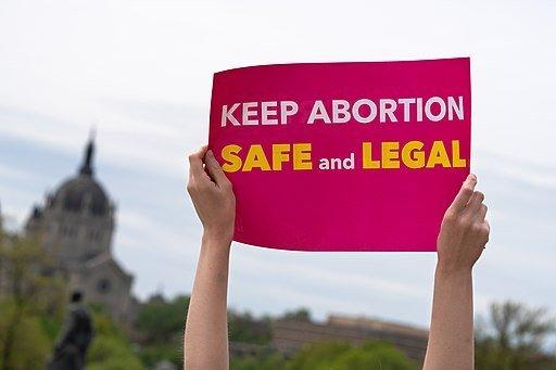 Keep Abortion Safe And Legal sign at a Stop Abortion Bans Rally in St Paul Minnesota 47902778991 199ea