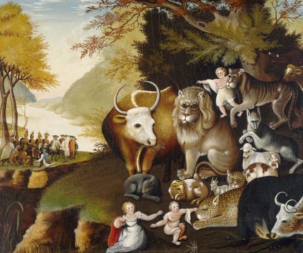 Peaceable Kingdom by Edward Hicks 1834 e1524417412126 78242