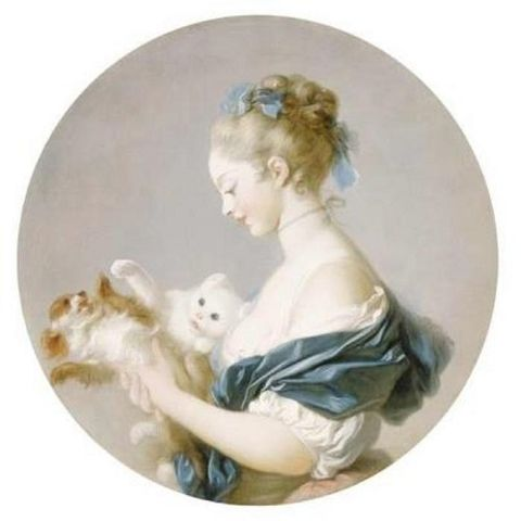 girl playing with a dog and a cat jean auguste fragonard 2ae03