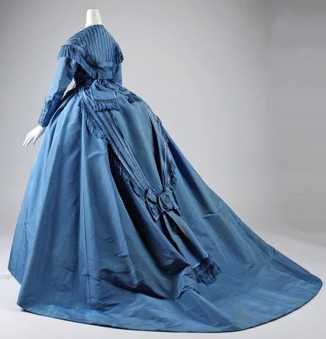1867 depret french silk dress side view via met museum 34d33
