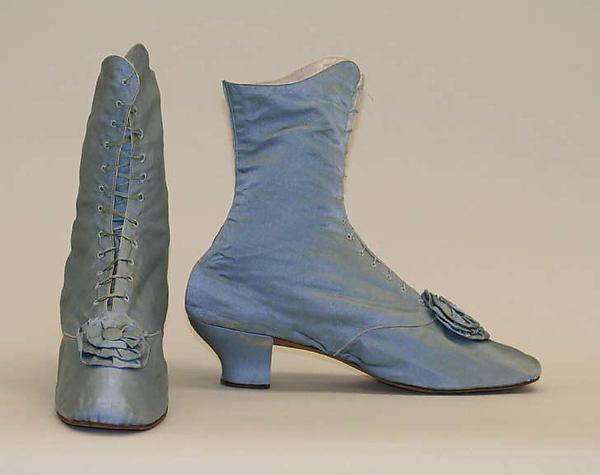 1870s american or european silk shoes via met museum a1458