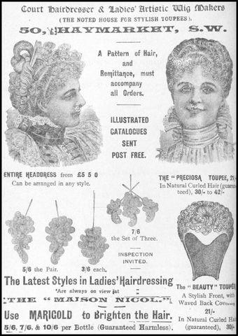 1898 hairdressing advertisement for false hair 725x1024 50c27