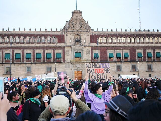 Femicide Protest Zocalo protester with sign ed887