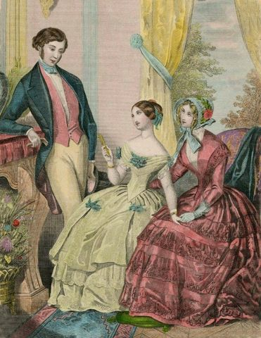 Le Follet 1848 Fashion Plate via Met Museum 3e45e
