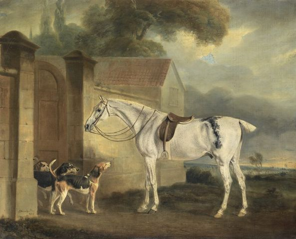 brass at cottesmore with the cottesmore hounds by john ferneley 1818 768x622 653ea