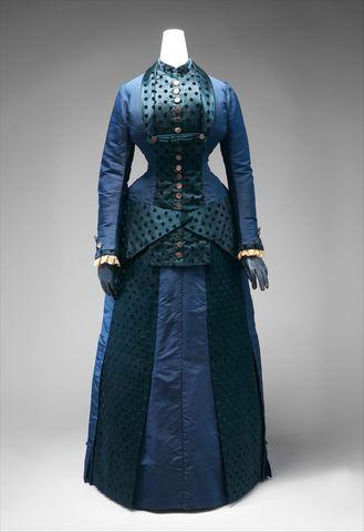 early 1880s american dress via met museum 9127a