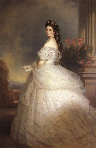 empress elisabeth of austria with diamond stars on her hair by winterhalter 1864 14dd5