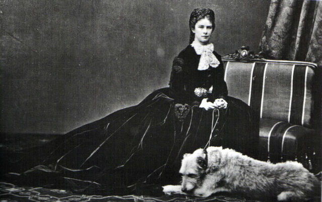 empress elisabeth of austria with her dog shadow by emil rabending 1866 c42f7
