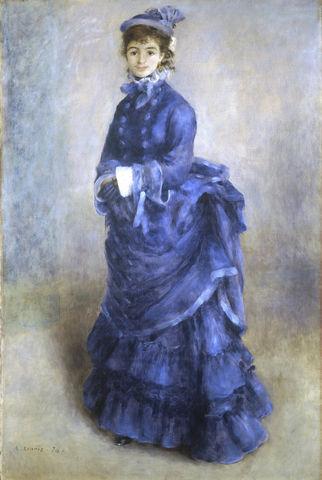 la parisienne the blue lady by pierre auguste renoir 1874 6907d