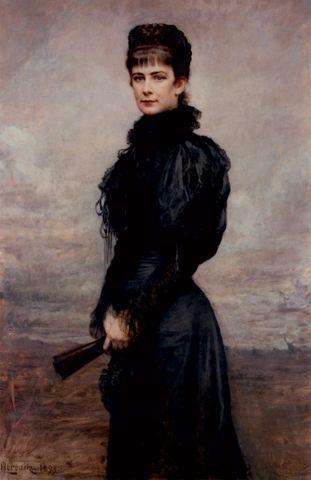 posthumous portrait of empress elisabeth of austria by leopold horowitz 1899 664x1024 f957e