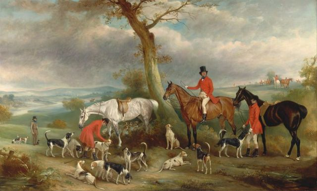 thomas wilkinson m f h with the hurworth foxhounds by john ferneley 1846 768x463 742f3