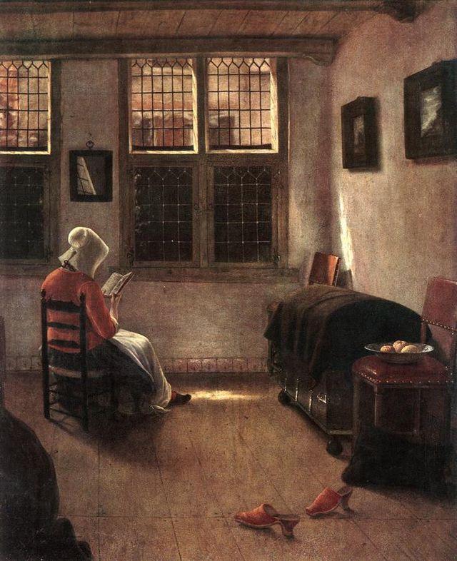 Pieter Janssens Elinga Reading Woman WGA7482 80312