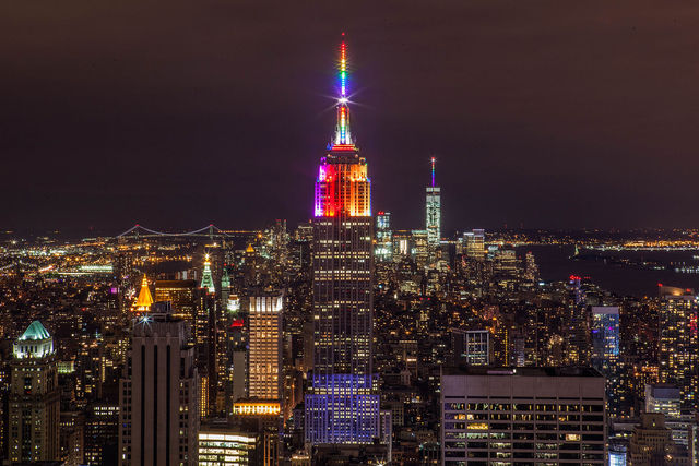 Empire State Building in Rainbow Colors for Gay Pride 2015 19258537982 a4e5c