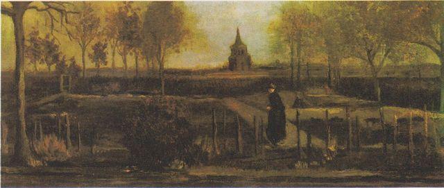 Van Gogh Der Pfarrgarten in Nuenen mit weiblicher Figur.jpeg 52488