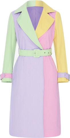 Azalea Colourblock Trench Coat 3 3ca63