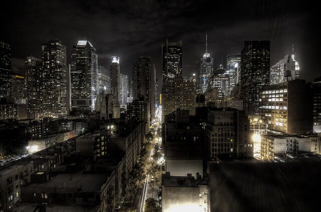 1600px New York City at night HDR 54e4d