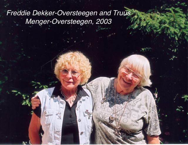 Freddie Dekker Oversteegen and Truus Menger Oversteegen May 31 2000. Credits Maarten Poldermans a4d1b