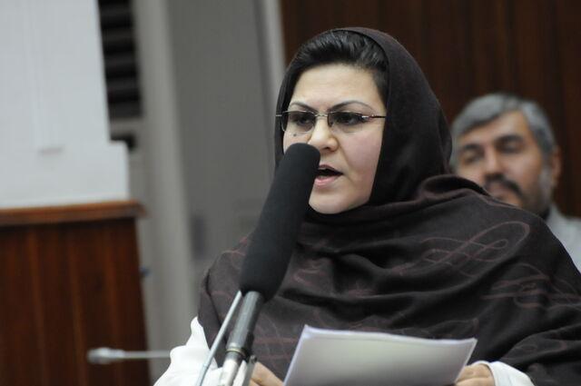 Homaira ayubi member of Afghanistan parliamentwomen activist f62e4